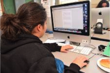 MDHS student on computer